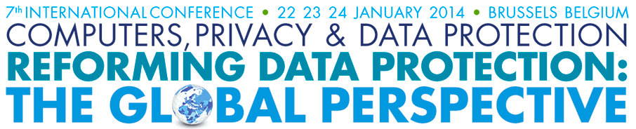 The 2014 Computers, Privacy & Data Protection (CPDP) Conference at Brussels.